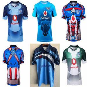 2021bulls Rugby League Jersey 19 20 غرفة منزلية بعيدا لعبة الأزرق بطل الطبعة الرجال الفانيلة التدريب أعلى جودة ارتداء تي شيرت