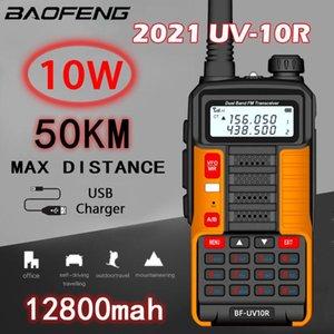 Walkie Talkie 2021 BAOFENG 10W Professional Portable UV-10R 80km 128 Channels VHF UHF Dual Band Two Way CB Ham Radio Transceiver