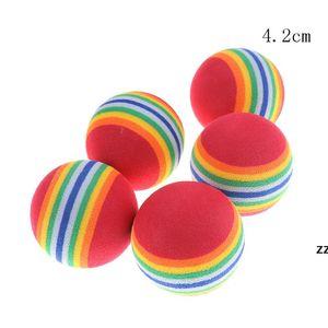 Rainbow Cat Dog Ball Pets Activities Funny Balls Kid Foam Sponge Balls Elastic Pet Dog Toys HWE7297
