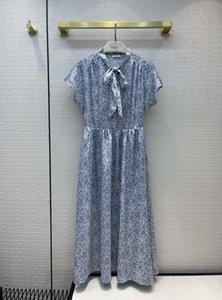 2021 Summer Sleeveless Stand Collar Print Fashion Milan Runway Dress Designer Brand Same Style Women's 0602-15