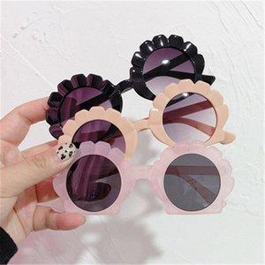 Детские солнцезащитные очки Девушка Мальчик Милые Лето Круглая рамка Небольшие Солнцезащитные Очки Детские Очки Версия Мода Дети