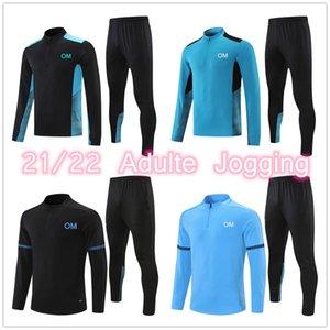 21 22 MILIK PAYET Marseille football tracksuits set survetement jacket Training suit soccer Jersey jogging 2021 Olympique De OM tracksuit