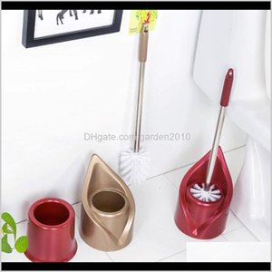 Brushes Holders Creative Bathroom Stainless Steel Long Handle Wash Toilet Brush Set Cleaning Supplies E 9Xyff 1Q3Cv
