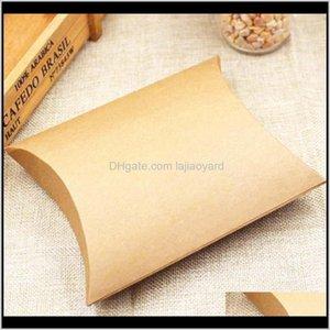 Wrap Feiluancustom Pillow Gift Kraft Black White Cardboard Paper Candy Packing Box Mutli Size 5Pc Per Lot Custom Logo Cost Extra Wmtgh D7Z9M
