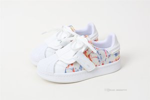 Designer Kids letter printed Athletic luxury boys girls lace-up outdoor Skateboarding Shoes children Leather Trainers School Sport Sneakers A7464
