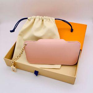Роскошные солнцезащитные очки Bag Brand Unisex Мужчины Женщины Keather Key Ring Bule Pink Eyeglasses с коробкой