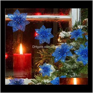 China Style Souvenir Cultural And Creative Gifts Electronics Drop Delivery 2021 Artificial Wedding Flowers Glitter Poinsettia Christmas Tree