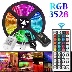 Streifen DC12V LED-Lichtstreifen 5m Fernbedienung Beleuchtung für Home Decoration AU / US / EU-Stecker Netzteil Weihnachtsbaum