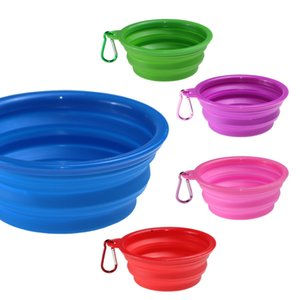 Small Size Silicone Bowl Foldable Mat Dog Cat Pet Feeding Water Food Dish Tray Wipe Clean Placemat OWB8510