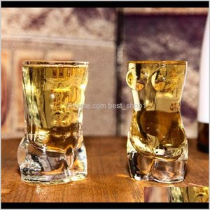 Sexy Lady Men Durable Double Wall Whiskey Glasses Wine S Glass Big Chest Beer Cup 700Ml60Ml Couple Gifts 1Tluc U0H9Z