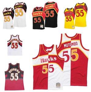 مخصص خياطة كرة السلة الفانيلة الرجال النساء الشباب S-6XL 55 dikembe mutombo جيرسي ميتشل نيس 1996-97 الصلب الكلاسيكية ارتداء الرجعية