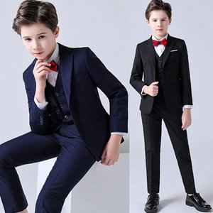 Formal children's dress suit flower girl wedding performance costume suit jacket vest pants