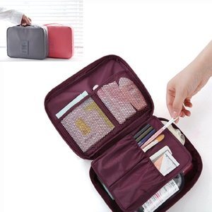 Travel waterproof wash cosmetic multicolor large size storage makeup bags multipurpose travelling bag handbag WP86
