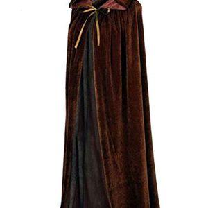 Women Men Cloak Velvet Hooded Cape Cosplay Costume Christmas Fancy Dress Hooides Cape for Hallowmas Halloween Party Hooded