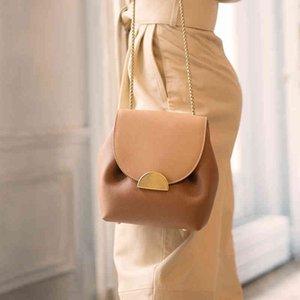 Çanta Valenkuci Kadınlar Deri Retro Lady Fransa Ünlü Marka Crossbody Zarif Lüks Tasarımcı Kova Zincir Çanta