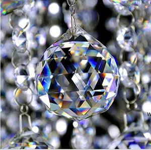20 mm de cristal transparente de cristal de cristal prisma colgantes colgantes de perlas lámpara iluminación gotas prismas de vidrio colgando DIY DHF6409