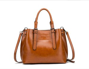 D118 Fashion Handbags Purse Totes Large Capacity Ladies Simple Shopping Handbag PU Leather Shoulder Bags