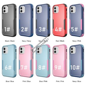Premium Commander Three-in-one armor anti-drop mobile phone cases for iphone 12 mini 11 pro max xr xs 6 7 8 Samsung S21Ultra Plus three defender Back cover cellphone case