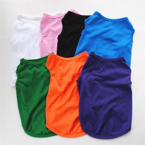 Summer Pet Clothes For Small Medium Dogs Solid Cotton T-shirt Accessories Supplies Cat Vest Shirts Dog Apparel