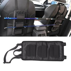 2Pcs Holder Fixed Strap Set Velcro with Fixed Fishing Rod Rack for Car Seat Back