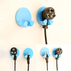 2Pcs Practical Self-AdheSive Power Plug Socket Holder Sticky Hooks Home El Wall Hanger Storage Tools ADW889 & Rails