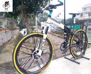 Kalosse Katlanabilir Tam Süspansiyon Dağ Bisikleti DIY Renkler Çerçeve Erkekler Bisiklet Katlanır 26er 24/27/30 Hız Bisikletleri
