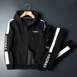 Traje deportivo de ocio para hombre 2021 chándal para hombres European American New Primavera y otoño Joven con capucha Cardigan OPP Package