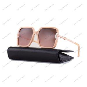Óculos de sol de moda de alta qualidade para homem mulher Erika Eyewear Marca Designer Sun Óculos Pearl Square UV400 lentes Caixa e casos