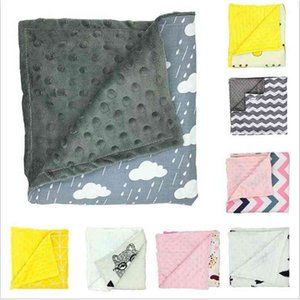 Baby Blankets Minky Bubble Dot Blanket Floral Print Swaddling Newborn Striped Wrap Infant Parisarc Sleepsacks Bedding Bathing Towels C6087