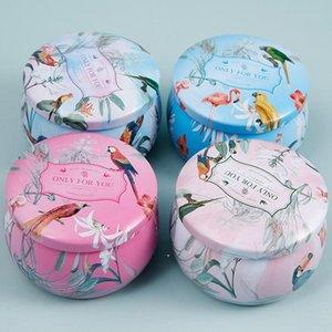 معدن القصدير حالة البسيطة جولة علب مربع صنع شمعة جرة فارغة صفيح يمكن أن الأزهار المجوهرات الحاويات الحلوى صناديق تخزين الشوكولاته dwe10017