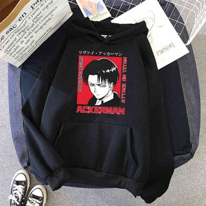 Hoodies Attack on Titan - Levi Japanese Anime Unisex Men and Women Casual Punk Cute Graphic Tumblr Pullover