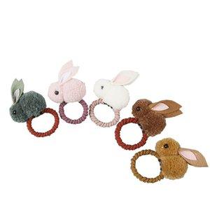 Kızlar 'Sevimli Top Ponpons Bunny Saç Kravat Bantları Klipler Çocuklar Iplik Pom Pom Tavşan Elastik Saç Halkası Tutucu Çocuklar için 777 X2