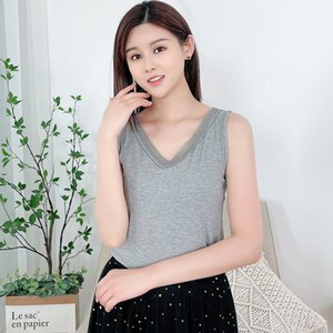 Lace with V-neck Sling Female Thread Buy Summer Slim Sleeveless Fashion Rib Top Women's Base Vest BSVY