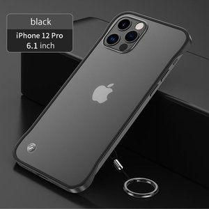 Ultra Thin Hard Frameless Phone Case For iPhone 11 12 Mini Pro X XR XS Max 7 8 6 6s Plus SE 2020 with Ring Translucent Cover