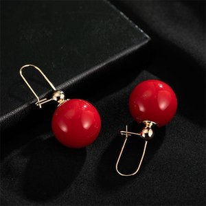 70%OFF 2021 net red champagne temperament big pearl earrings stud S925 silver needle fashionable exaggerated Pearl Earrings CMNP