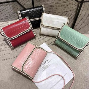 Women's Mobile Phone Color Belt Edge Trend 2021 Small Square Bag