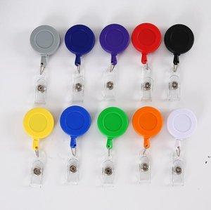 Badge bobinas retrotable plana puxão pull borbulamento coroa lanyard retrátil keychain keychain nome titular cartão titular dwc7139