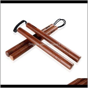 High Grade Rosewood Double Bar With Parachute Rope Woodiness Combat Two Sticks Strong Wear Resisting Martial Arts Supplies 25Cb Ww Hca Vrgw6
