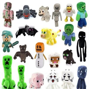 38 styles Minecraft Plush Toys Skeleton Man Doll Pig Tiger Cat Zombie Squid Game Dolls pillow Holiday Party Prom Christmas Valentine's Day New Year Gift