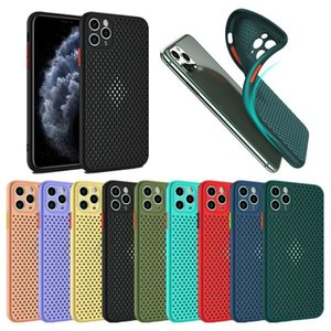 Colorful Soft TPU Silicone Case For Iphone 12 11 Pro Max XR XS 6 7 8 SE Samsung S20 ultra A51 A71 A10S A20S A01 A20 A50 A70 M10 A21S M21 Breathable anti-fall mobile phone case