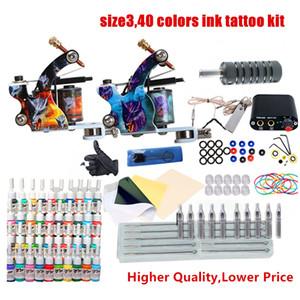 Tattoo Machine Gun 6/14/40 Colori Guanti monouso Guanti mini alimentazione Set da principianti Kit per tatuaggi Body Art Forniture