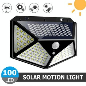 Strings 100LED Solar Wall Light Four Sides Luminous Human Body Induction Garden Stairs Decoration Waterproof
