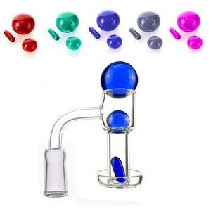 Скошенный край Терп Струркперский кварцевый банковый гвоздь с стеклянным шариком Ruby Pearls Pill 20 мм OD Terp Vacuum Banger для Bong Bong Bong
