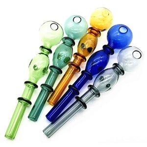 14mm coloré double bulle verre droite pot en gros verre bongs bongs brûleur de pétrole tuyaux d'eau pipes d'huile de matériel d'huile 0504