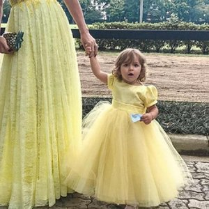 Kids Princess Dress For Girls Flower Appliques Ball Gown Baby Clothes Elegant Party Wedding Costumes Children Clothing Girl's Dresses