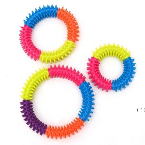 Silicone Spiky Sensory Ring Fidget Toys finger decompression toy Bracelet Stimulating Massage Stress Anxiety Relief Squeeze OWB6595