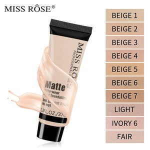 Miss Rose Face Cream Foundation Makeup 37ML Matte Easy to Wear Long-lasting Concealer Whitening Coloris Cosmetic