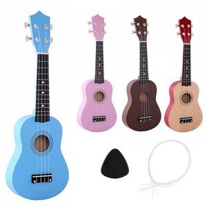 21 Inch IRIN colour Ukulele Beginners Children Christmas Gifts Hawaii four Guitar String + Pick