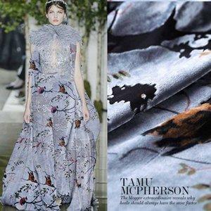 114 cm hollow burnout velvet fabric high-end drape velvet fabric breathable comfort cheongsam dress silk silk cloth i7Ok#