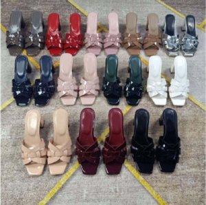 Sandalet Altın Patent Kakma Bayan Ayak Bileği Lace Up kadınların yüksek topuklu parti etek kutusu ayakkabı008 150 1
